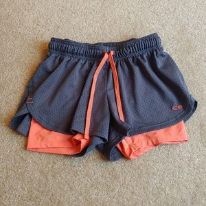 Champion gray& orange stretchy shorts